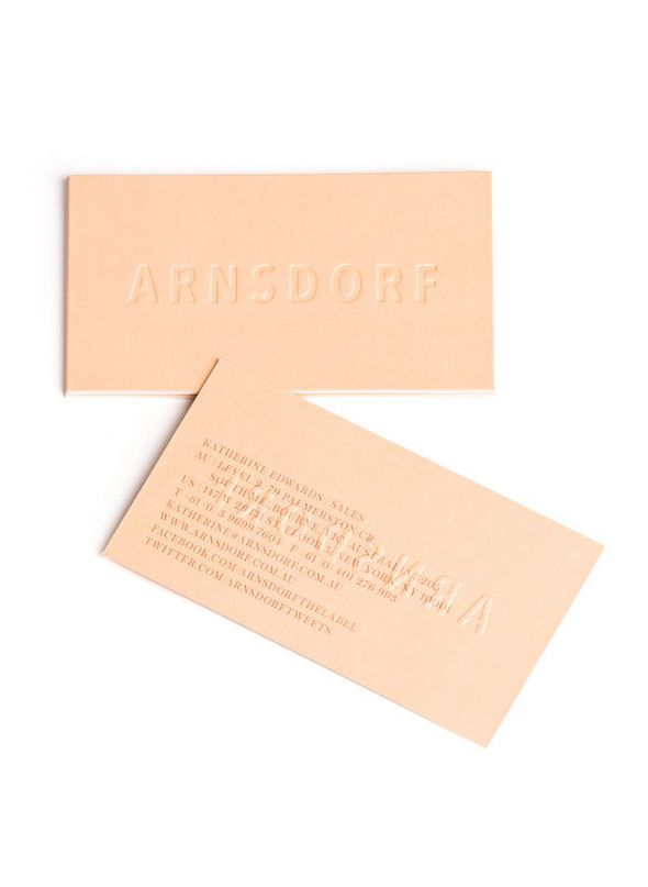 Ro And Co | leather business card