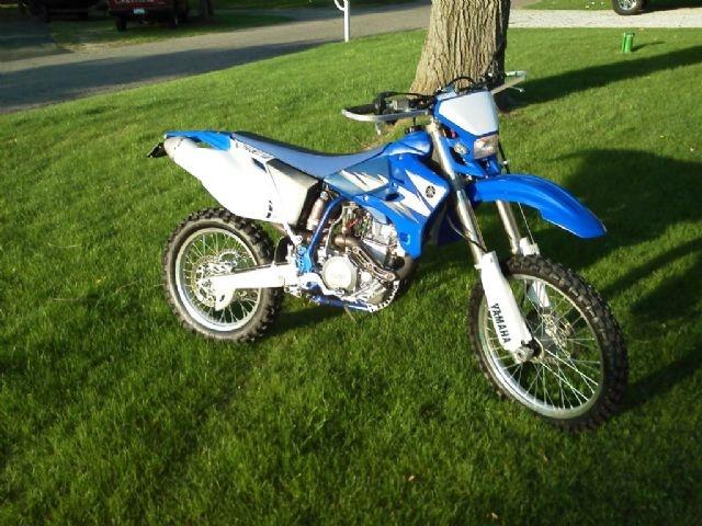 2006 yamaha wr450f dual sport blue 1 000 miles for sale for Yamaha dual sports