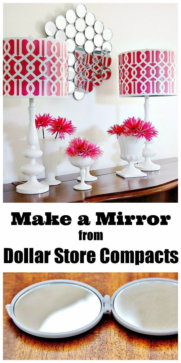 Easy Crafts To Make and Sell - Mirror Wall From Dollar Store Compacts - Cool Homemade Craft Projects You Can Sell On Etsy, at Craft Fairs, Online and in Stores. Quick and Cheap DIY Ideas that Adults and Even Teens Can Make http://diyjoy.com/easy-crafts-to-make-and-sell