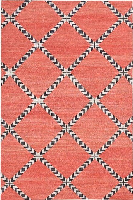 Primrose Lolita handwoven cotton flatweave carpet from @Madeline Weinrib