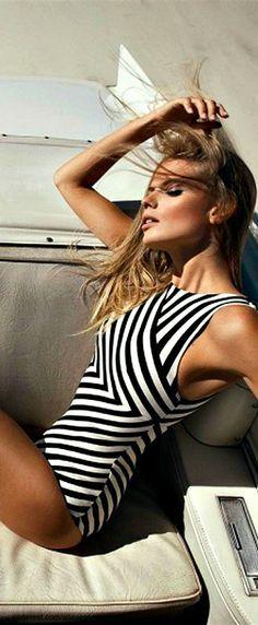 .bathing suit swimwear swimsuit summer beach bikini black white