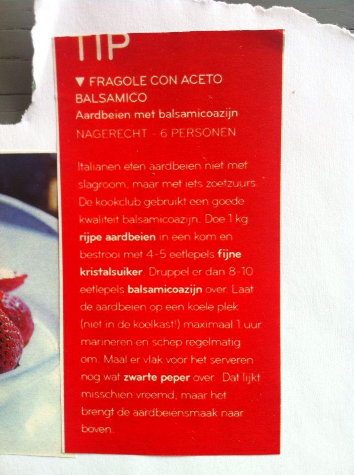Aardbeien balsamico
