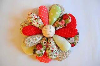 Handmade flower shape decorative pillow