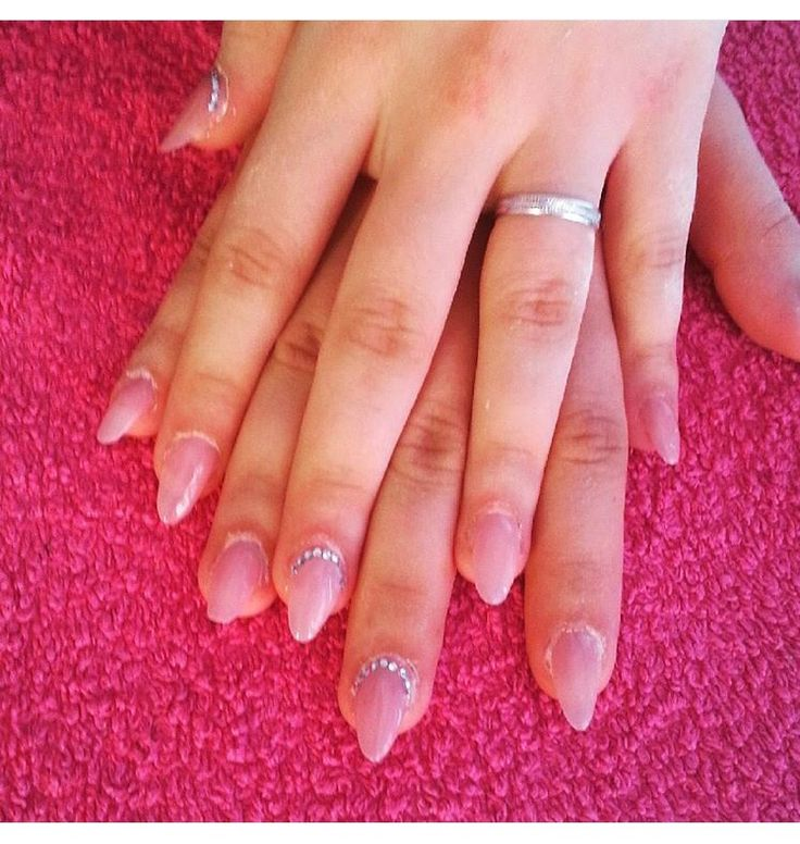 #ricostruzione unghie #nails #natural #strass #natural effect #natural style