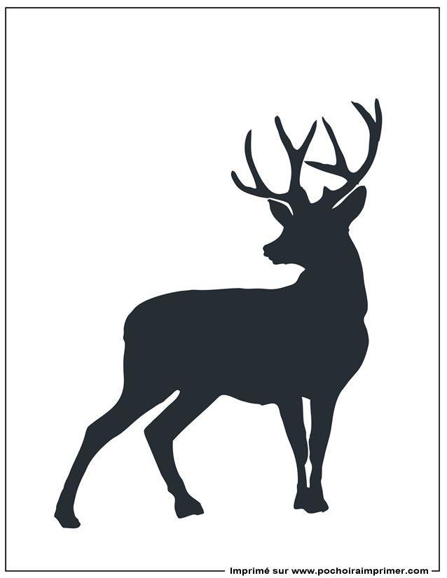 Pochoir à imprimer - Pochoir cerf                              …