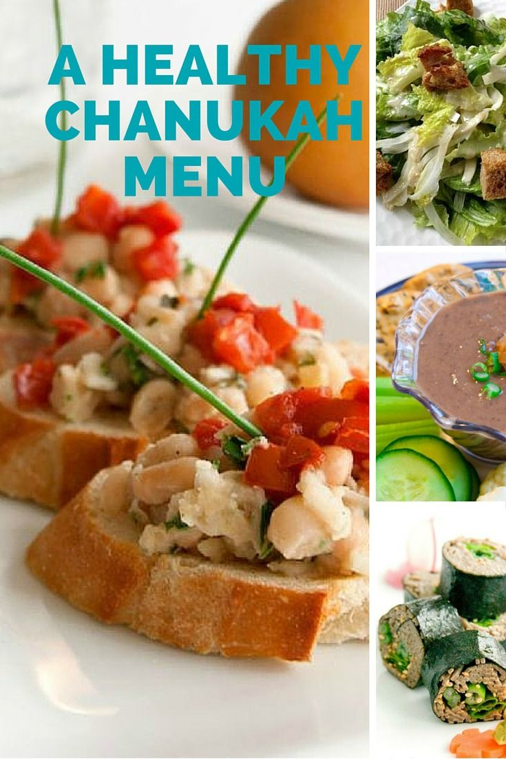 A Healthy Chanukah Menu for lunch or dinner.