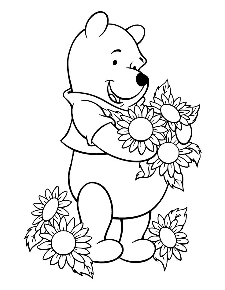 winnie the pooh - Get your hands full with printable coloring pages