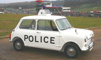 Police Mini Cooper car