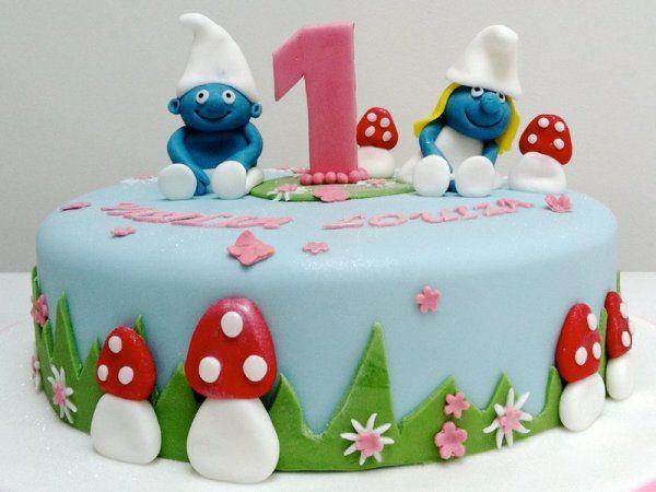 easy smurf cake - Google Search