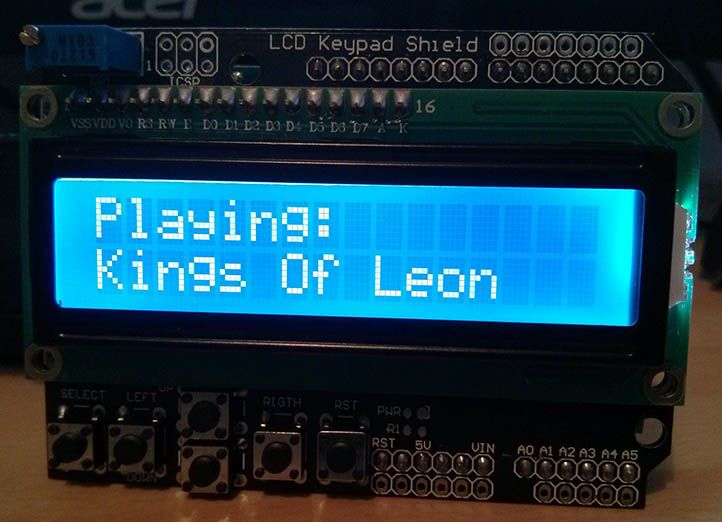 Creating a Spotify remote with an Arduino and LCD Shield | The hack shed