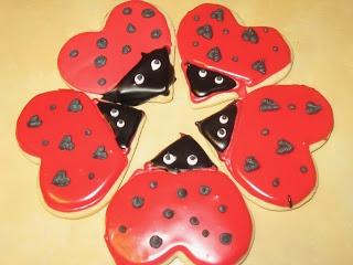 Biscotti cuore coccinella