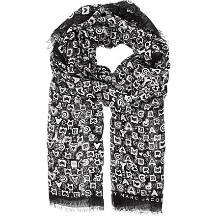 MARC BY MARC JACOBS Dreamy Graffiti scarf (Black multi) Want it!!