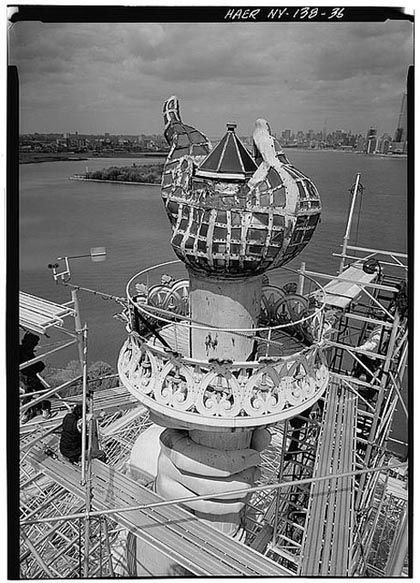 statue of liberty construction photos | New York Architecture Images-STATUE OF LIBERTY