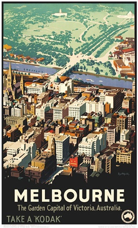 Melbourne. Garden Capital of Victoria, Australia by Northfield.1936. http://www.vintagevenus.com.au/products/vintage_poster_print-tv586