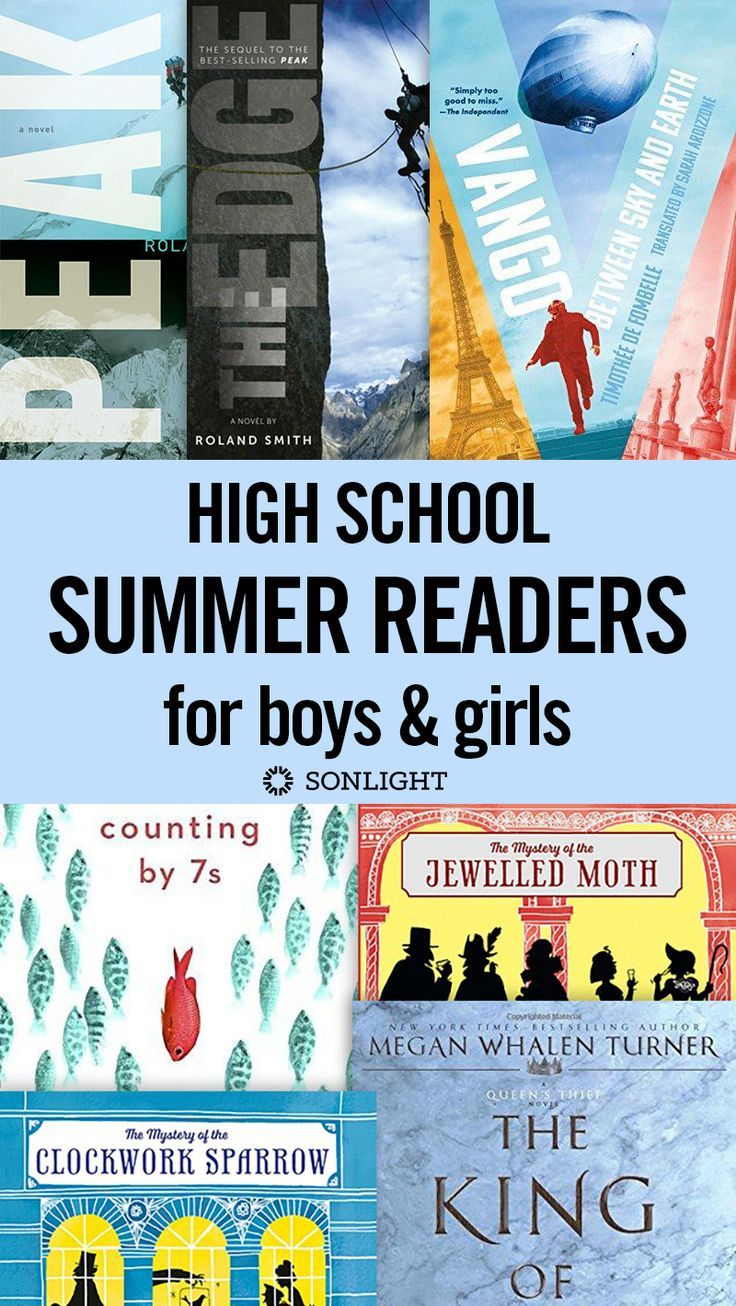 Summer Reader sets for high school students with options for both boys and girls.  Books with well-developed plots, a redemptive story line, and rich characters. | The boy books tend to have male main characters, with plots that emphasize adventure and danger, with pranks, humor and hijinks for good measure. The girl books tend to have female main characters, with plots that emphasize courage and connection, with romance, mystery, and beauty for good measure. | reading• books•homeschool •…