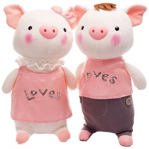 Cute Plush Pig Toy Pair of Lovers Doll