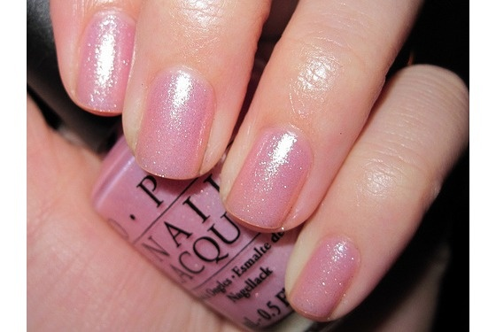 This is the BEST everyday nail polish. I just got my nails done with it and feel in love....OPI Princess Rule - Sheer Pale Pink Shimmer Nail Polish $7.99