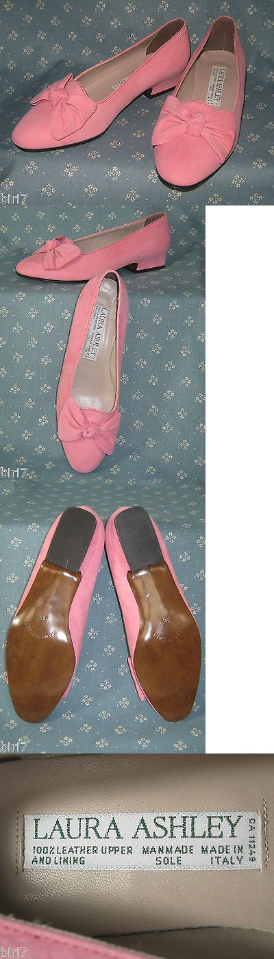 Womens Vintage Shoes 74976: Laura Ashley Vintage 90 S Blossom Pink Suede Leather Court Shoes, Eu36 Uk3 -> BUY IT NOW ONLY: $40 on eBay!