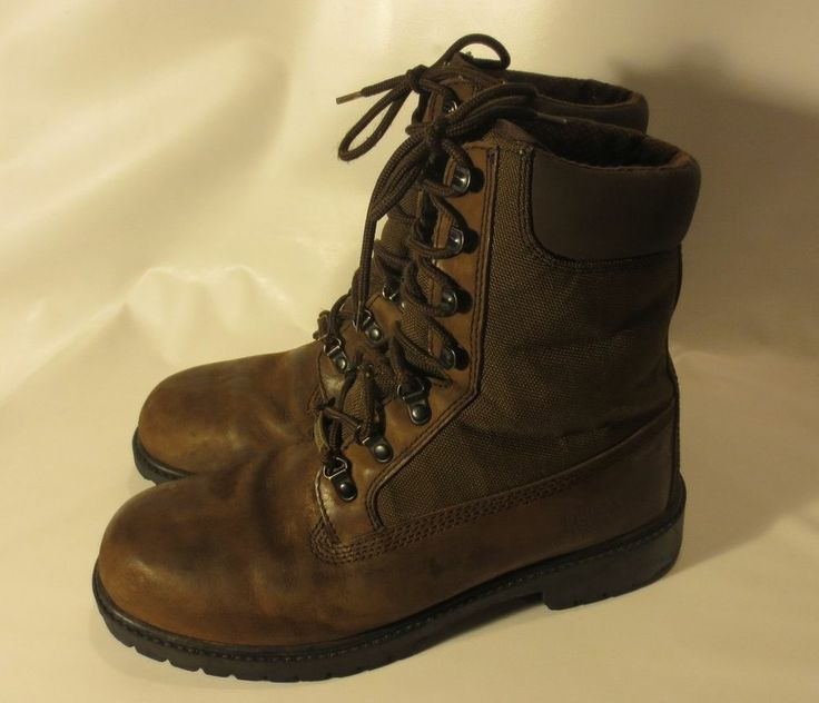 Men's Field & Stream Brown Leather Boots Hunting Hiking Thinsulate  WATERPROOF-8
