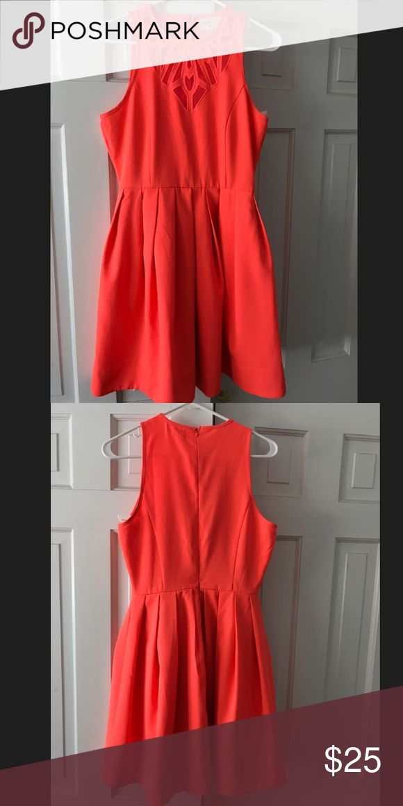 Red Dress Boutique Coral Dress Coral Dress with Detail at the top-- Brand New,Never worn Everly Dresses