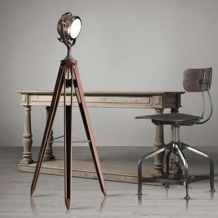 13 best industrial floor lamp images on pinterest for Cheap tripod lamp