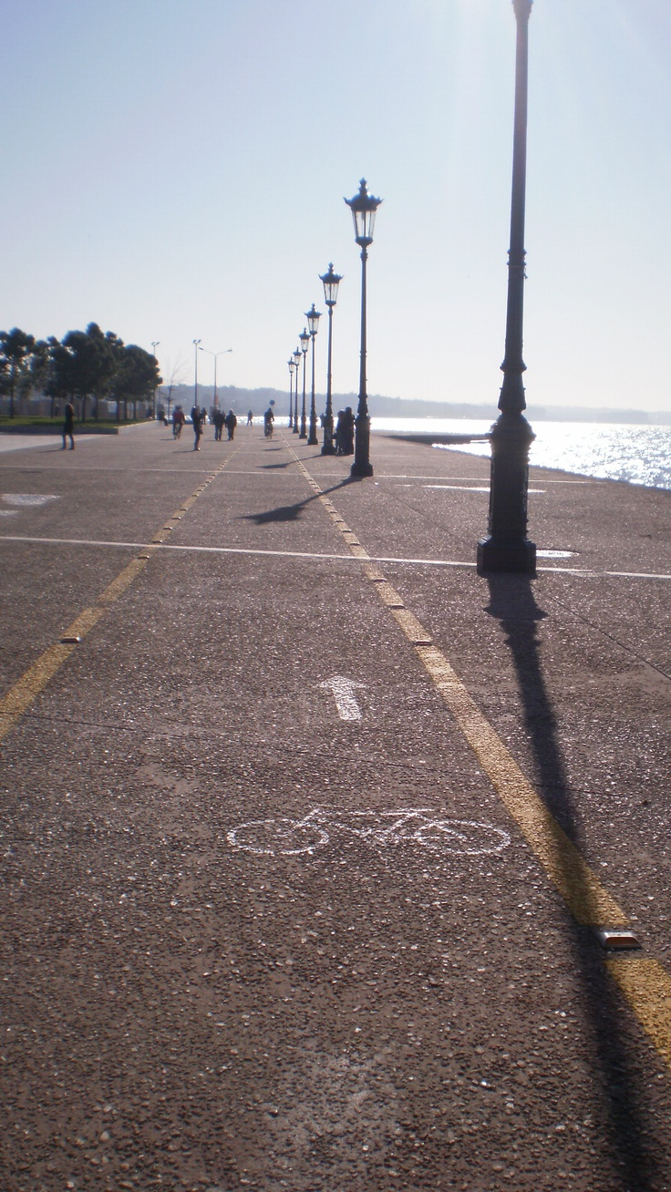 Bicycle way in Thessaloniki