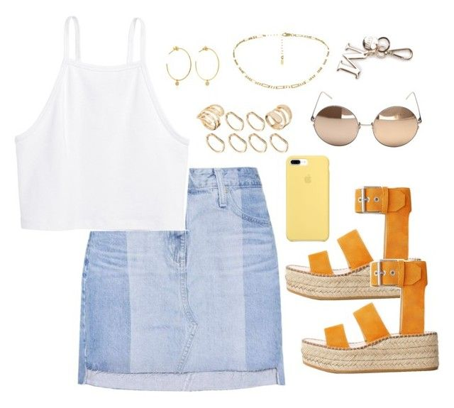 """""""Untitled #4162"""" by magsmccray on Polyvore featuring AG Adriano Goldschmied, rag & bone, ASOS, H&M, Yvonne Léon and Linda Farrow"""