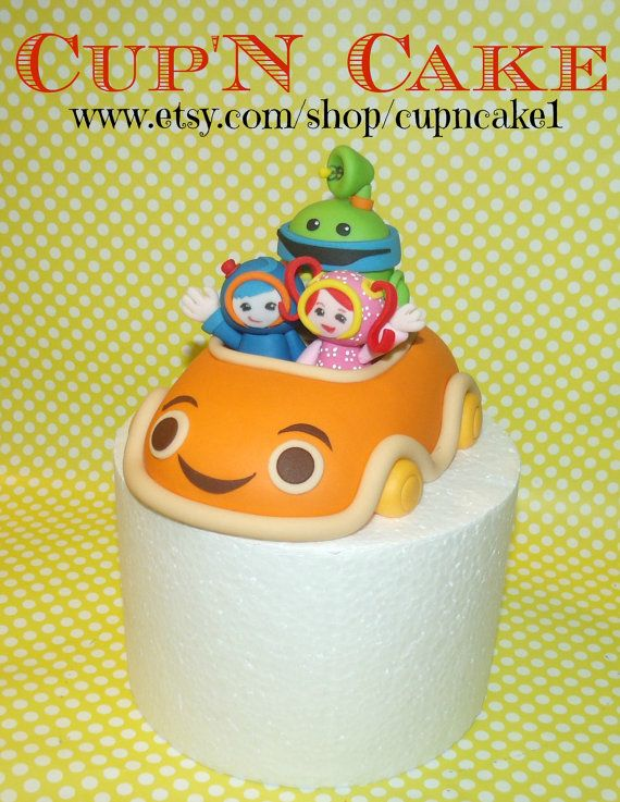 Geo Bot and Milli team umizoomi car fondant cake by Cupncake1, $79.98