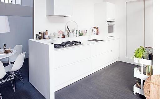 White vtwonen kitchen