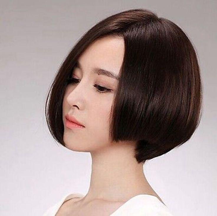 100% Real Hair! Fashion Bob In A Wig Mushroom Head Really Hair Wigs
