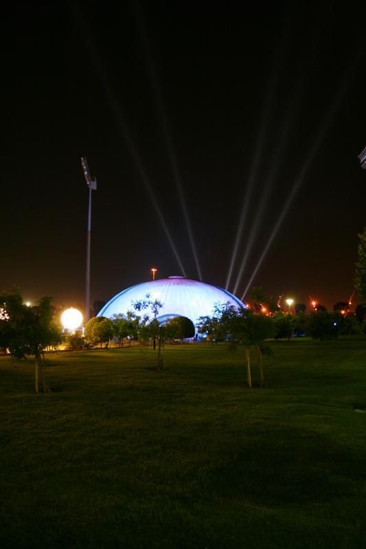 Inflatable dome used for festival event complete with lighting. #EvolutionDome #TemporaryStructure #EventVenue #InflatableDome #EventSpace #FestivalMarquee #PartyVenue #PartyMarquee #Festivaltent