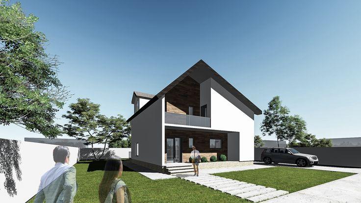 Proiect casa REYNA. Parter + Mansarda | 3 camere | 124 mp. Mai multe detalii gasiti aici: http://www.uberhause.ro/proiect-casa-parter-mansarda-124-mp-reyna