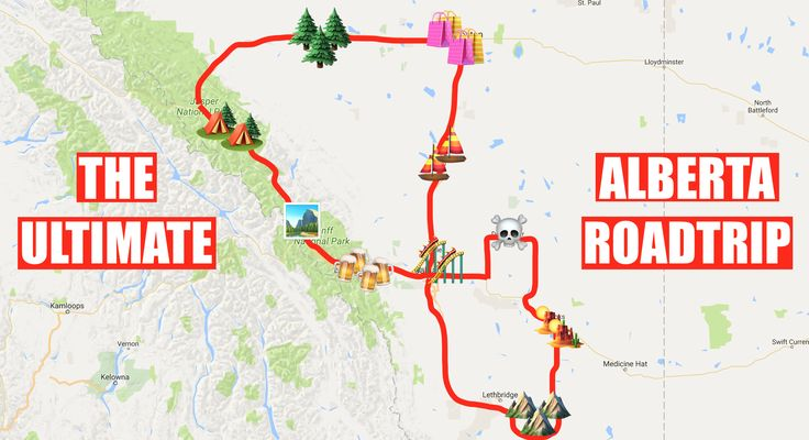 The ultimate Alberta Road Trip.Do it for the memories.