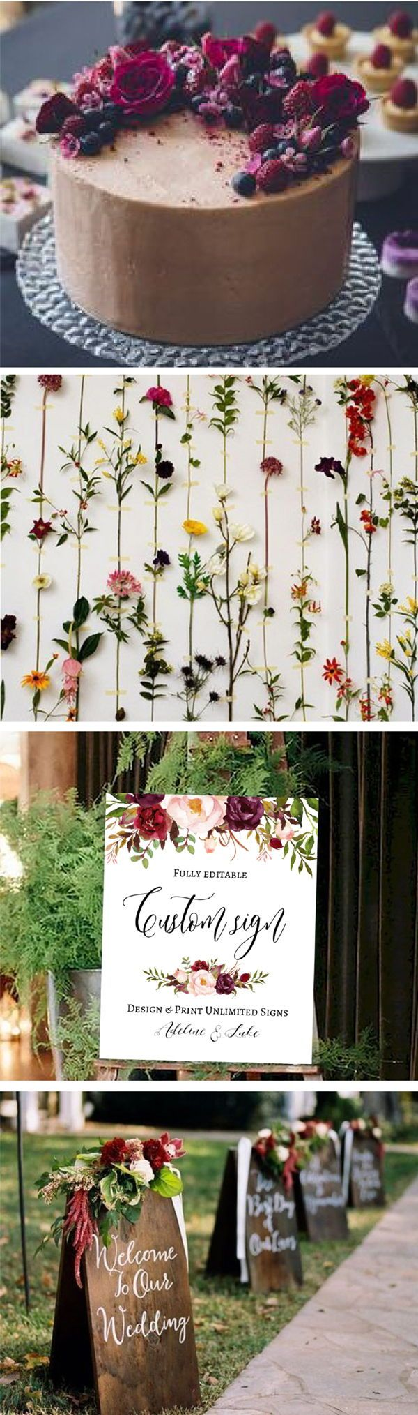 Perfect Fall & Autumn Wedding Sign! 100% Editable design, SAVE + Click later!
