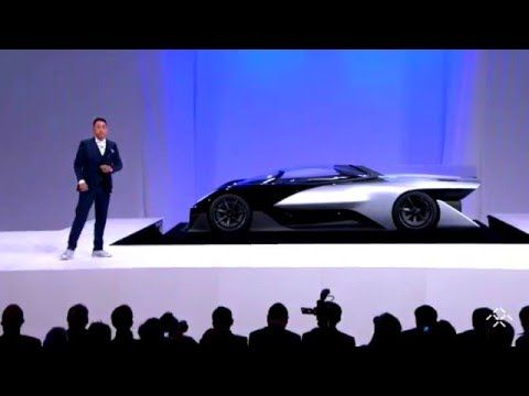 "Faraday Future reveals ""Car of Concept"" FF Zero1 @ CES 2016 - The first electric supercar is born - YouTube"