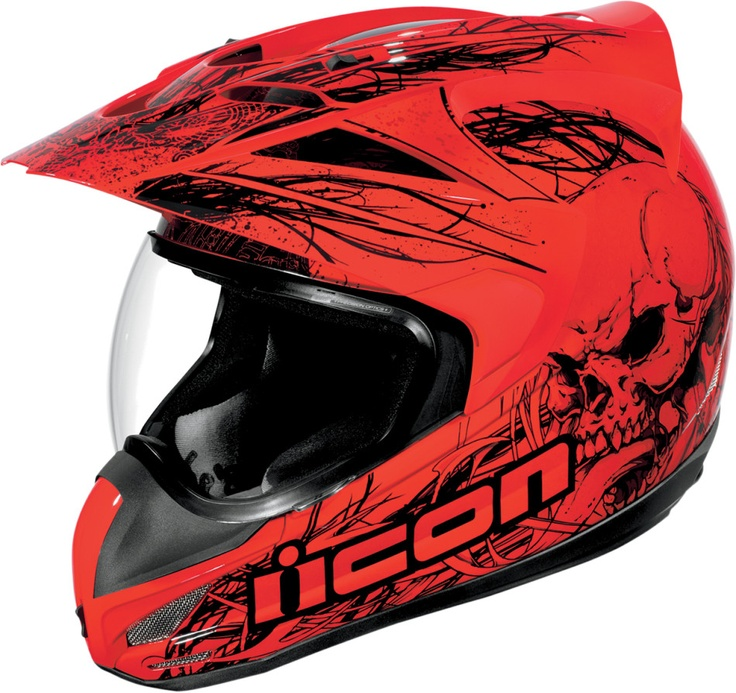 Icon variant etched motorcycle street dual sport helmet