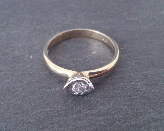 Handmade Unusual Solitaire Diamond Engagement Ring by ArahJames