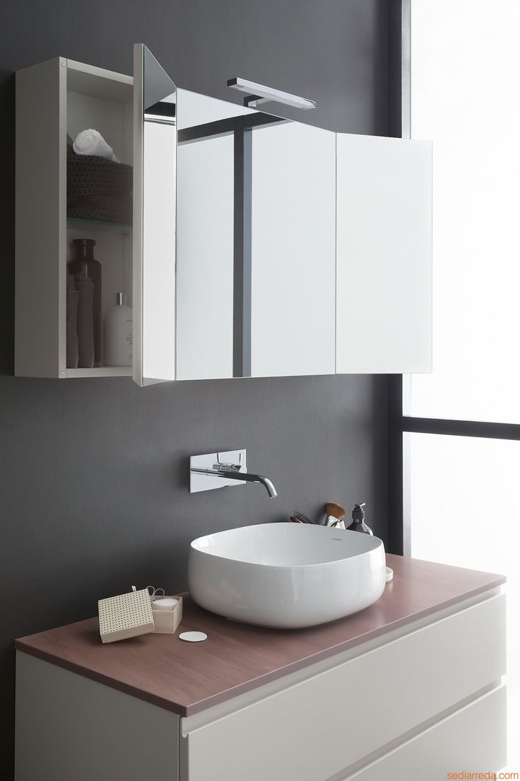 Memento D by Birex - Sink cabinet with marble top