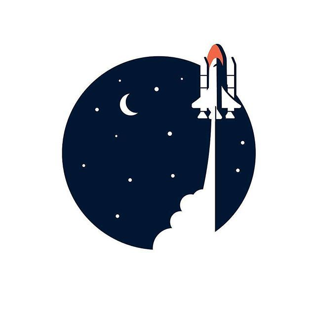 By { @ebelchatovski } -  Launch . Tag #designarf to featured! . #design #designer #amazing #graphicdesign #graphic #illustration #illustrator #art #poster #instagood #artwork #vectorart #vector #beautiful #digitalart #sketch #draw #color #like #picoftheday #repost #inspiration #minimal #flat #creative #space #rocket