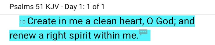PSALMS 51 KJV  CLEAN HEART