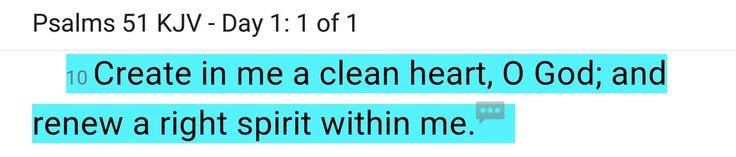 PSALMS 51 KJV CLEAN HEART