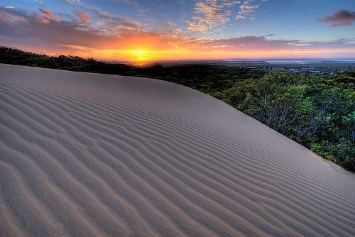 Carlo Sandblow sunset, Rainbow Beach, Cooloola NP