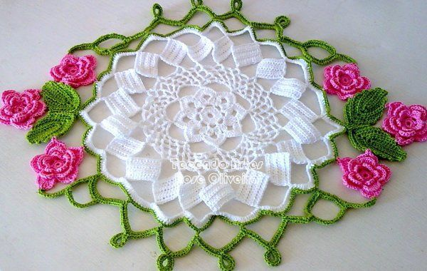 Crochet .-.Tapetes,Cortinas,Manteles.-. on Pinterest | Crochet ...