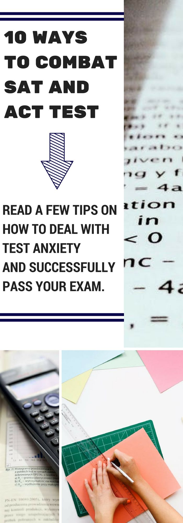 Many people experience test anxiety at least once or twice during their time in college. Even students with excellent grades can feel a lot of pressure just because of all the time spent thinking about taking the ACT and SAT. However, it doesn't have to be all that intimidating – a few tips on how to deal with test anxiety can help you relax, concentrate and successfully pass your exam.