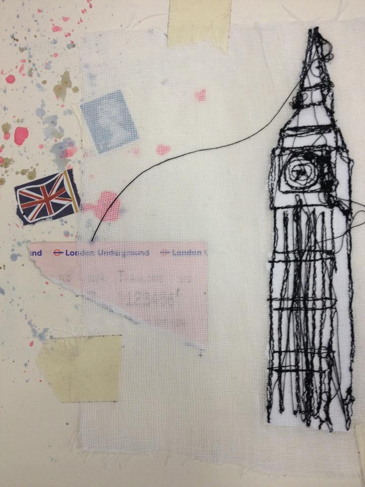 Holly Hands; mixed media textiles