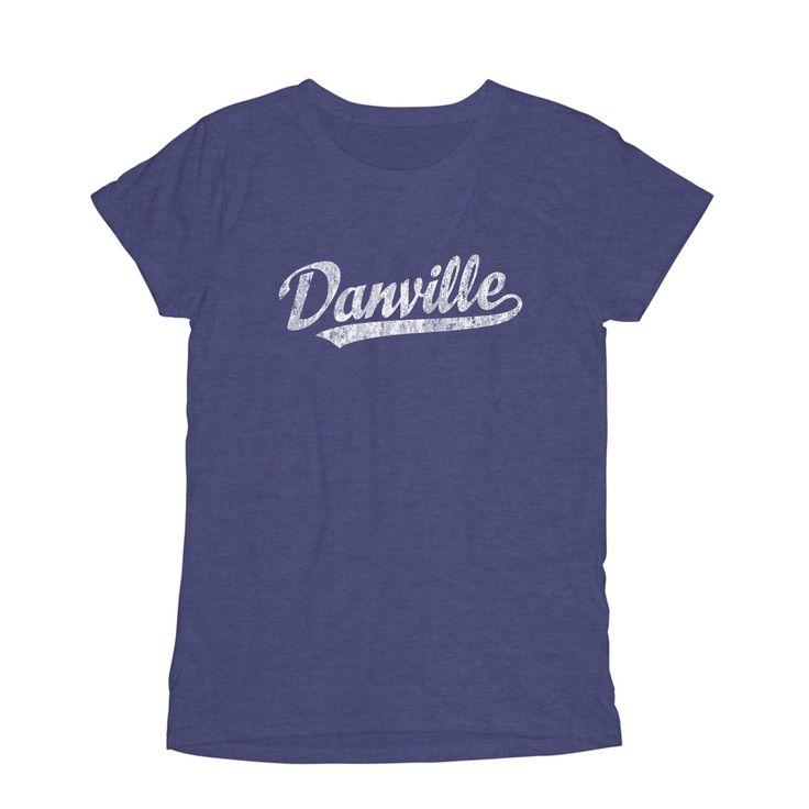Danville Virginia... available at JimShorts.com http://jimshorts.com/products/danville-virginia-va-womens-fashion-fit-t-shirt-baseball-script-white?utm_campaign=social_autopilot&utm_source=pin&utm_medium=pin