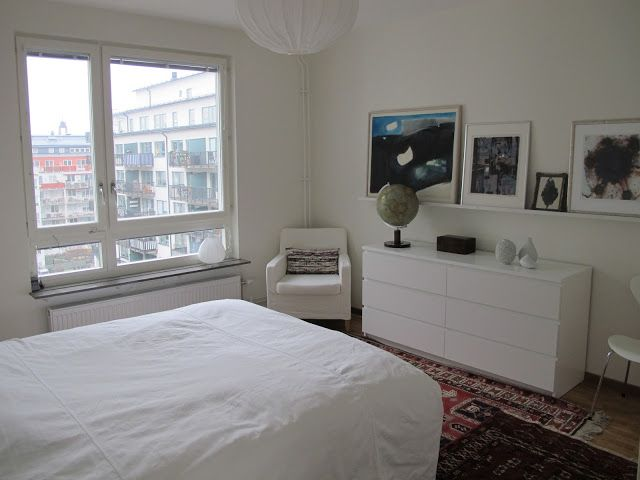 Sovrum med orientaliska mattor