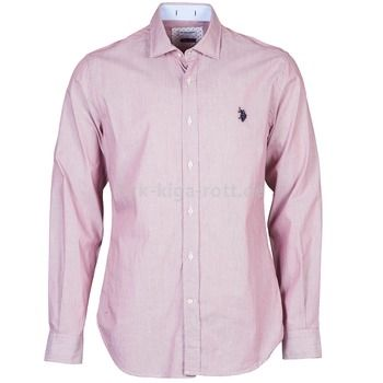 U S Polo Assn Herren Langarm Hemden Rot Herrenbekleidung Pinterest