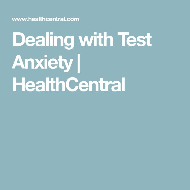 how to help anxiety rom a test