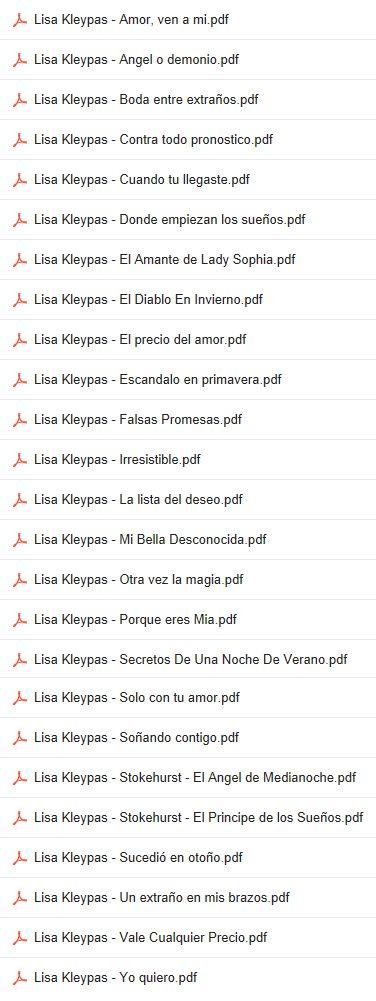 """Descargar novelas de """"Lisa Kleypas"""" en PDF"""